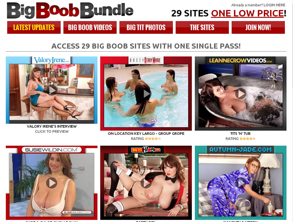 29 BigBoob Sites with One Pass