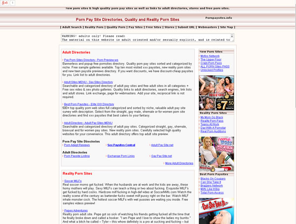 Old catalog of Porn Pay Site Directories, Quality and Reality Porn Sites & Xxx Galleries